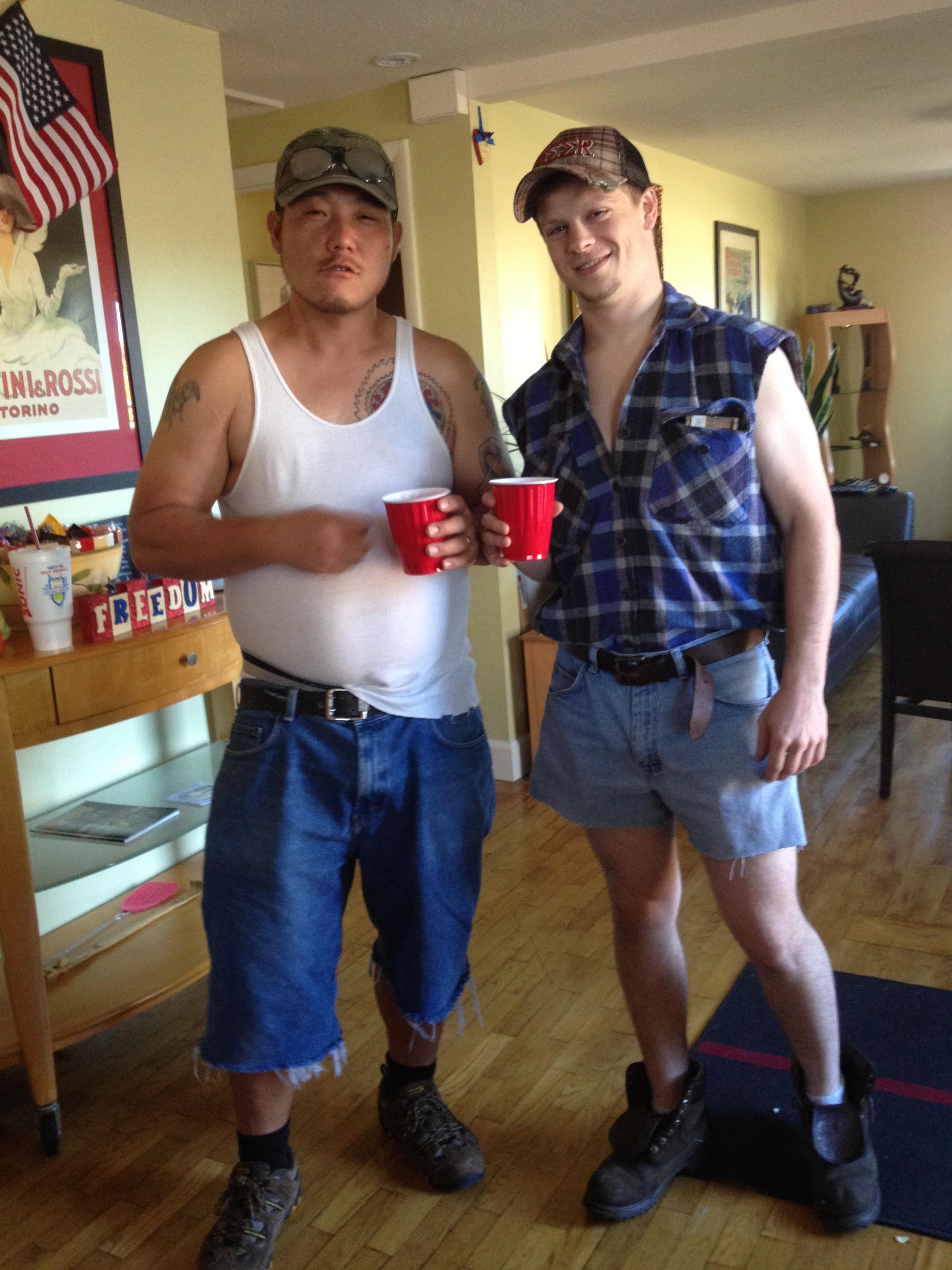 Redneck White Trash Couples Tattoo Hair My